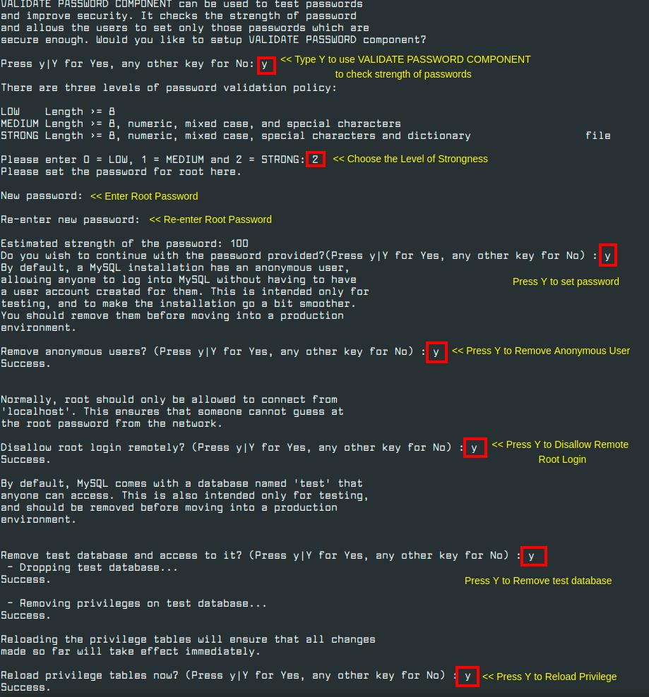 Secure-MySQL-Installation-in-CentOS-8