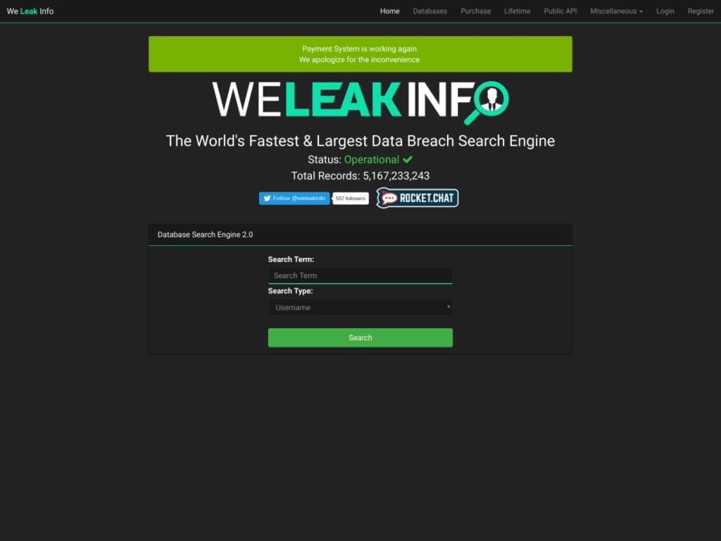 Сайт WeLeakInfo был закрыт представителями ФБР, информационная безопасность поступи онлайн Воронеж