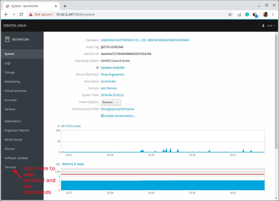 Cockpit-Dashboard - Как установить KVM на Fedora / CentOS / RHEL 8?