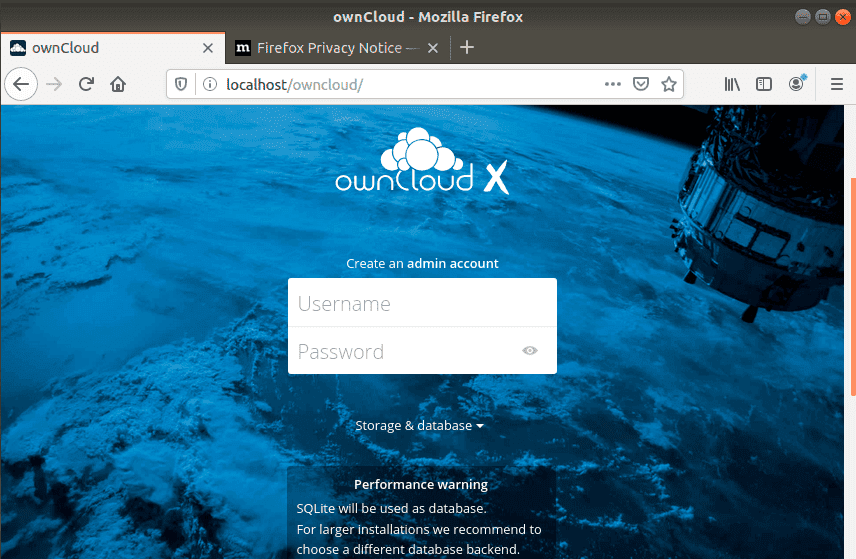 Create-OwnCloud-Admin-Account