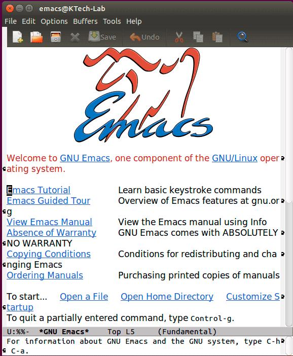 GNU-Emacs - 21 лучший текстовый редактор с открытым исходным кодом (GUI + CLI) в 2020 году