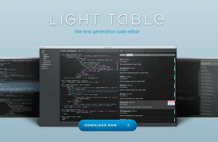 Light-Table-Code-Editor