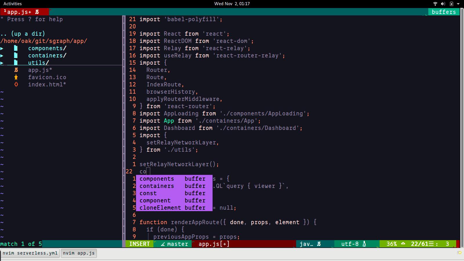 Neovim-–-Vim-based-Text-Editor - 21 лучший текстовый редактор с открытым исходным кодом (GUI + CLI) в 2020 году