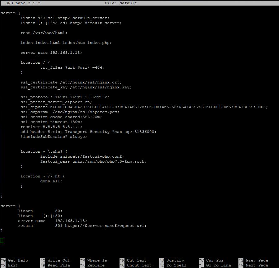 Как установить Nginx, MariaDB 10, PHP 7 (стек LEMP)