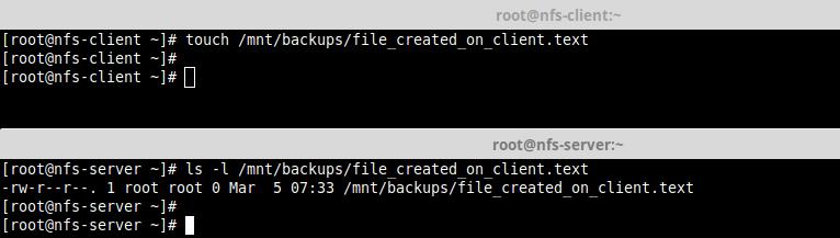 Test-NFS-Setup-from-Server - Как настроить NFS-сервер и клиент на CentOS 8?