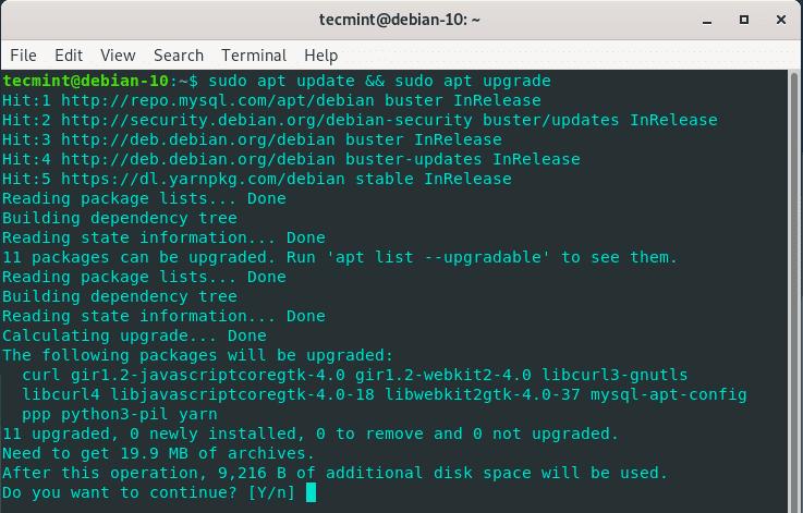 Update-Debian-System-Packages - Как установить OwnCloud в Debian 10?