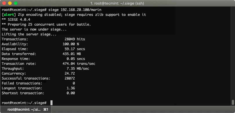 Web-Server-Load-Testing-with-Siege