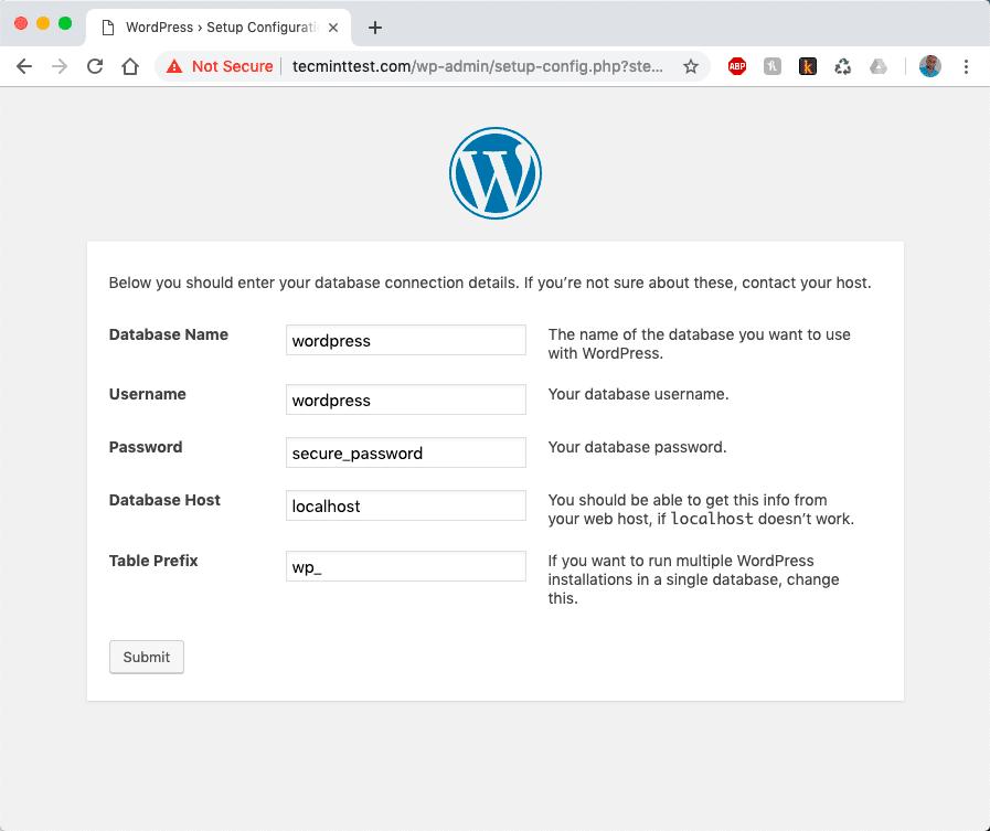 WordPress-Database-Settings