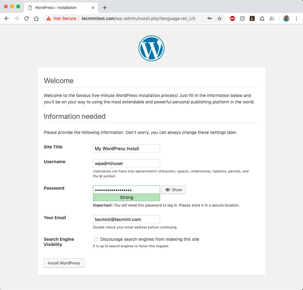 WordPress-Website-Details
