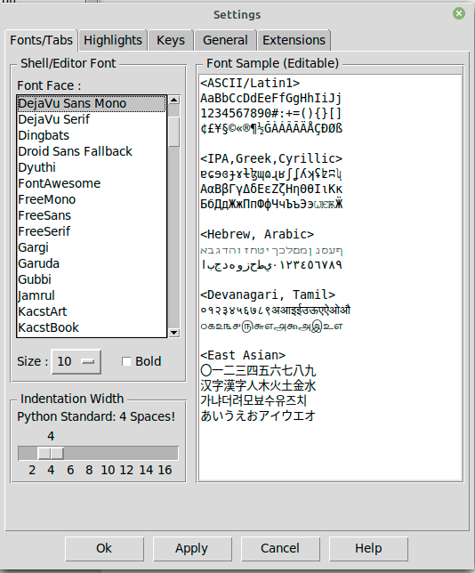 Python-IDLE-Settings